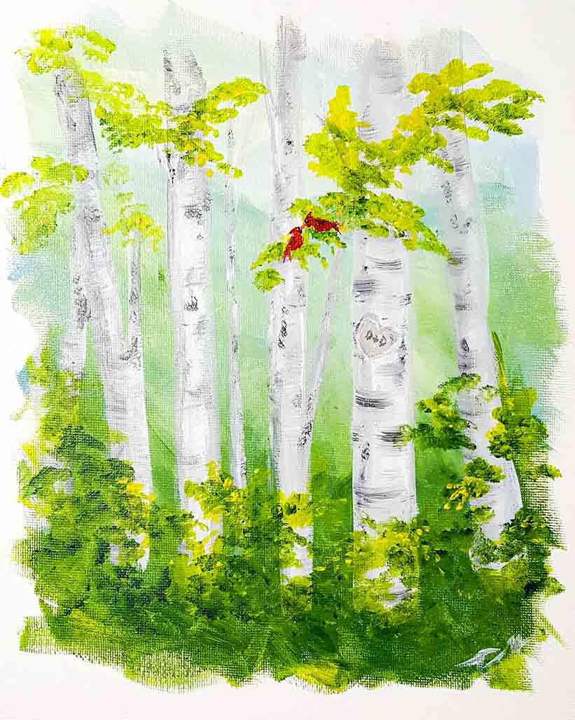 Birch Tree Heart