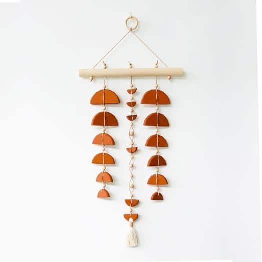 Brown Clay Wall Hanging