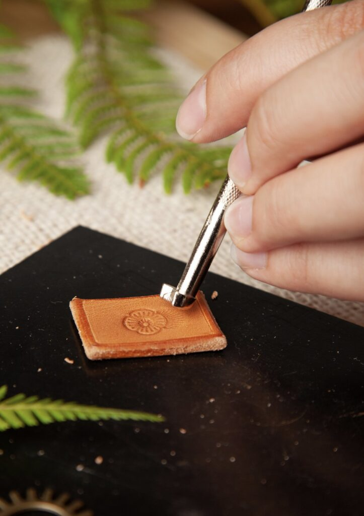 Stamped Leather Pendant Step 10