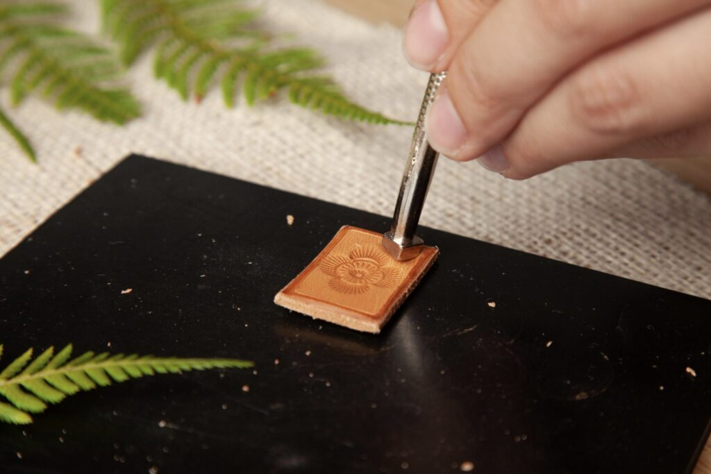 Stamped Leather Pendant Step 11
