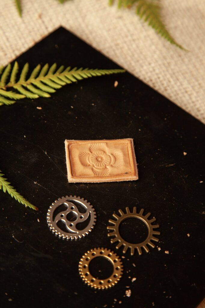 Stamped Leather Pendant Step 12B
