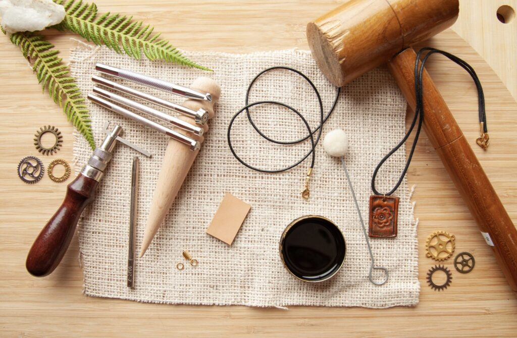Stamped Leather Pendant Materials