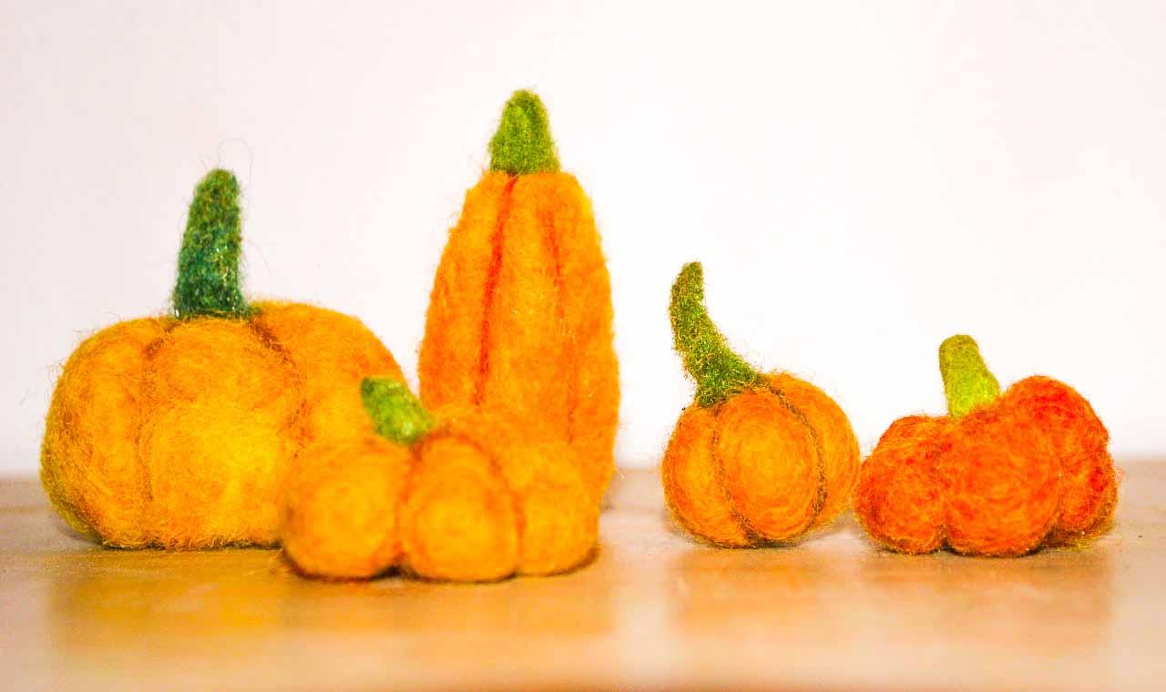 web Felt Pumpkin 3