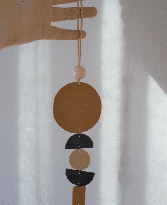 Round Clay Wall Hanging