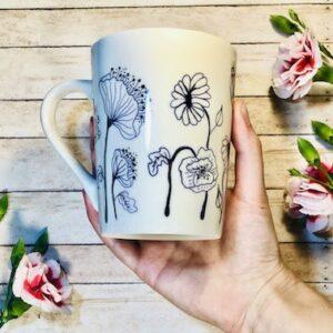 Flowers on Mug