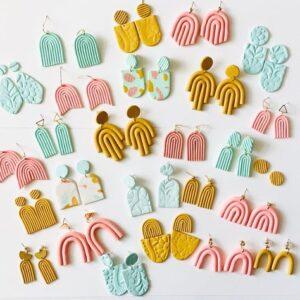 poly-earrings-stock-image